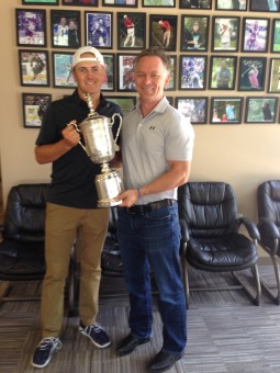 Jordan Spieth (left) and Dr. Troy Van Biezen